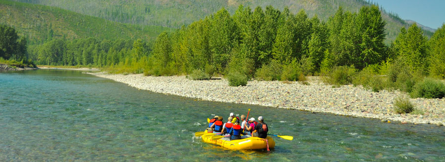 Glacier national park rafting trips, scenic float