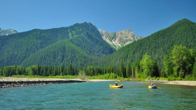 Kayaking in Montana, Glacier Raft Company